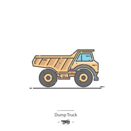 Dump Truck - Line color icon