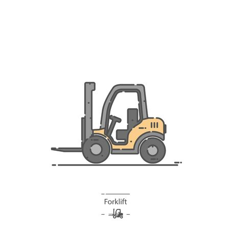 Forklift - Line color icon
