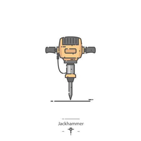 Jackhammer - Line color icon