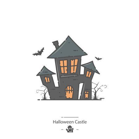 Halloween Castle - Line color icon