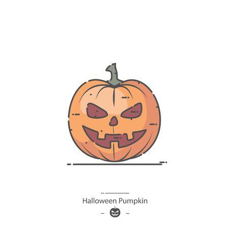 Halloween Pumpkin - Line color icon