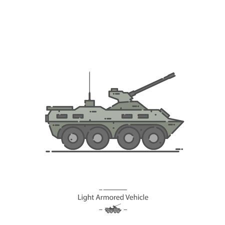 Light Armored Vehicle - Line color icon