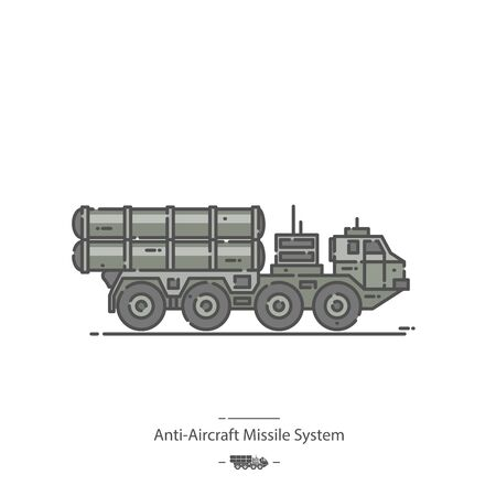 Anti-Aircraft Missile System - Line color icon