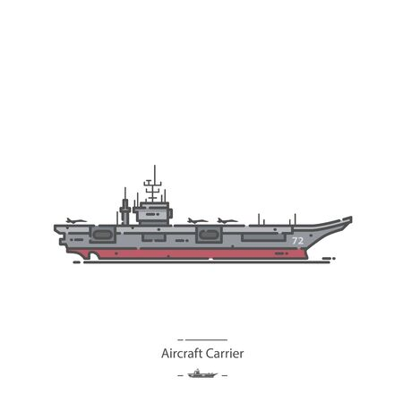 Aircraft Carrier - Line color icon