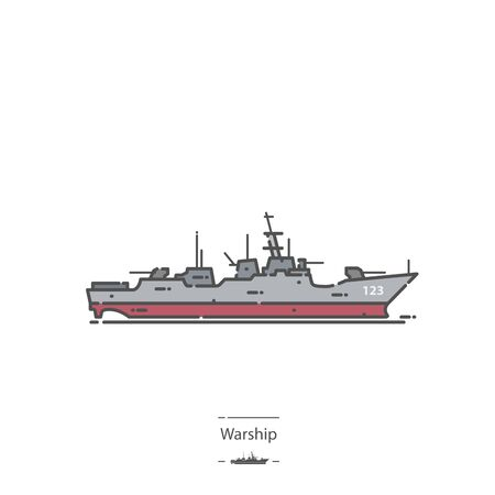 Warship - Line color icon