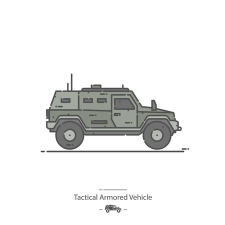 Tactical Armored Vehicle - Line color icon