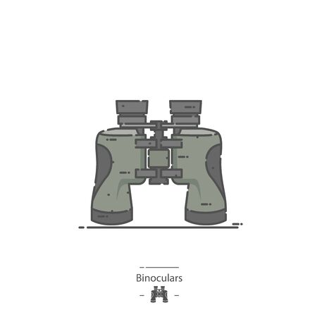 Binoculars - Line color icon