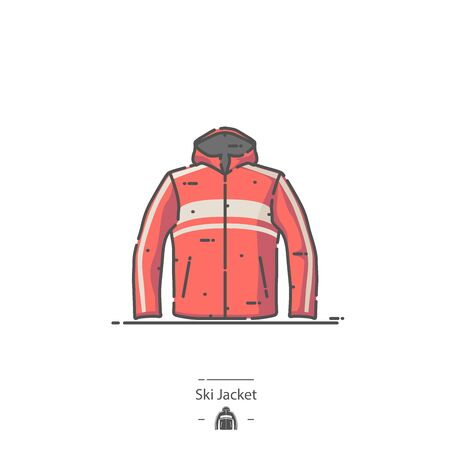 Ski Jacket - Line color icon