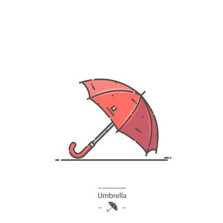 Red Umbrella - Line color icon
