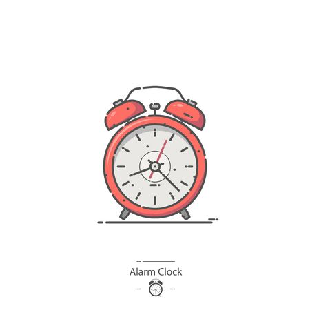 Red Alarm Clock - Line color icon