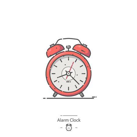 Red Alarm Clock - Line color icon