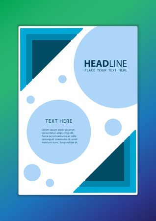 publication: Leaflet cover presentation abstract geometric background, modern publication poster magazine, layout in A4 size