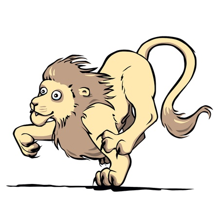 hunting lion Illustration