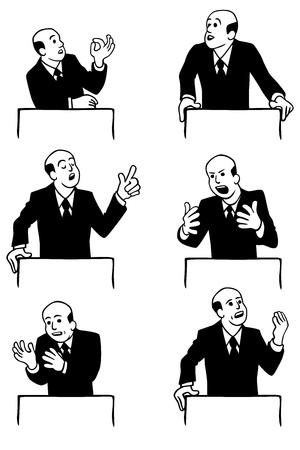 l'uomo fare un discorso