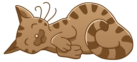 cat sleeping: illustration of a cute little sleeping cat Illustration
