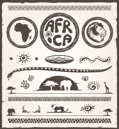 Africa Design Elements Vector