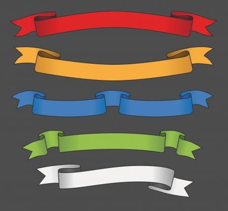 striscioni colorati Vettoriali
