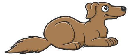 cute brown dog Vector