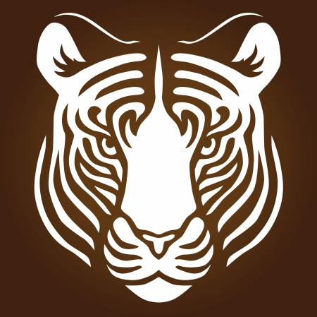 Illustration of a tigers head Vector