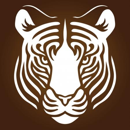 Illustrazione di una testa di tigri Vettoriali