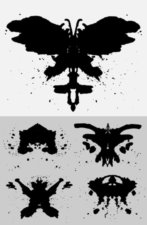 Collection of Inkblots inspired by Rorschach Test