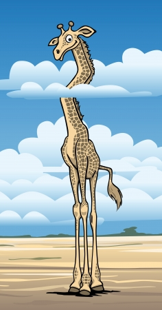Vector illustration of a large giraffe