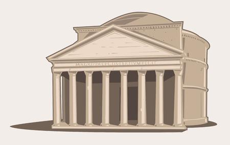 Pantheon a Roma Vettoriali