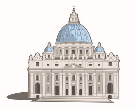 vatican city: St  Peter s Basilica Illustration