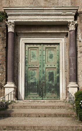 Ancient roman door