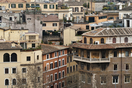 View over the roofs of Rome Stock Photo