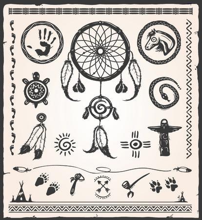 indios americanos: elementos de diseño del nativo americano