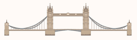 london tower bridge: Vector Illustration of the Tower Bridge in London