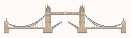 touristic: Tower Bridge in London Illustration
