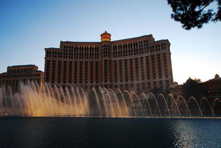 bellagio fountains: Bellagio hotel and casino in Las Vegas Fountains of Bellagio Editorial