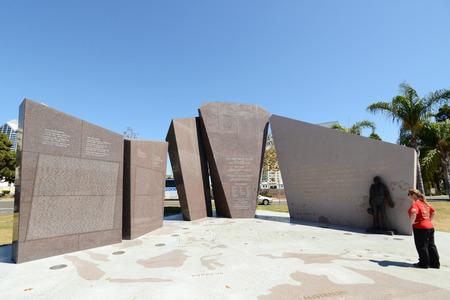 San Diego port USS San Diego to commemorate the World War II battleship CL-53 monument