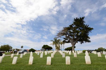 Cimetière national San Diego Fort Rosecrans Banque d'images - 82909136
