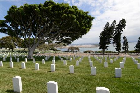 Cimetière national San Diego Fort Rosecrans Banque d'images - 82909721