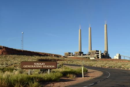 ナバホ発電所の煙突