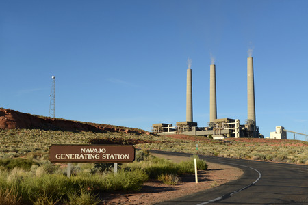 Chimneys of Navajo Generating Station