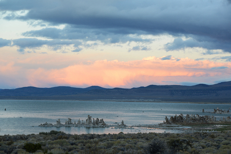 One of the oldest lakes in North America, Mono Lake landscape view