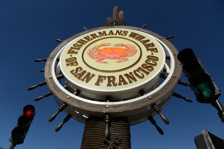 Fishermans wharf of San Francisco signage Banque d'images - 105248299