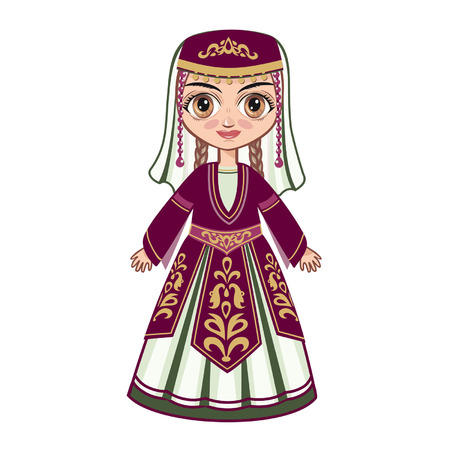 Armenian girl 向量圖像