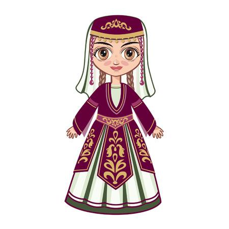 Armenian girl Illustration