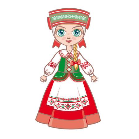 Belarusian girl Vector