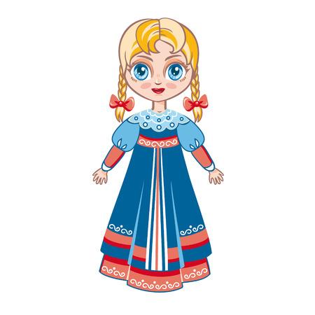 Russian girl Vector