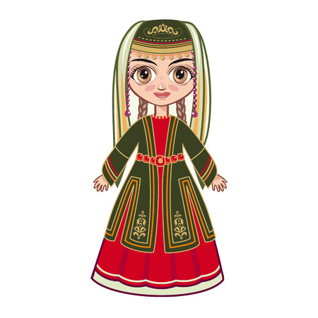 armenian woman: girl in the Armenian suit