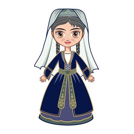 georgian: girl in the Georgian suit