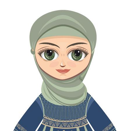 femmes muslim: Les femmes en robe musulmane. Portrait avatar