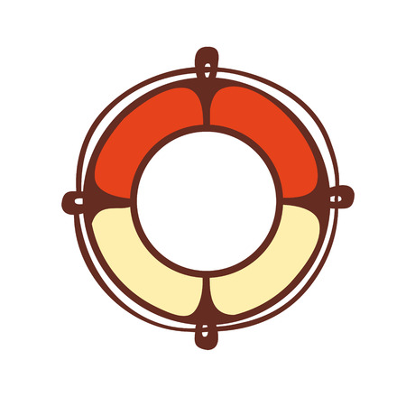 defend: Lifebuoy. Emblem. Pictogram. Icon.