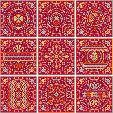 patchwork pattern: 9 seamless patchwork pattern. Ethnic geometric print. Wallpaper, pattern fills, web page background, surface textures. Wrapping. Festive packaging. Geometric carpet.